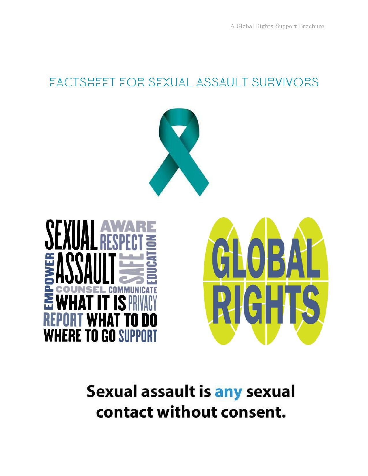 Factsheet for Sexual Assault Survivors